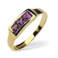 Amethyst 0.42ct 9K Yellow Gold Ring