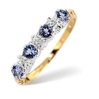 Tanzanite 0.40CT And Diamond 9K Gold Ring