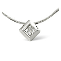 Illusion Necklace 0.25CT Diamond 9K White Gold