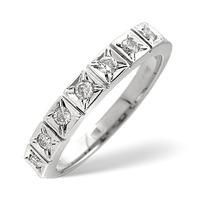0.25CT Half Eternity Ring Diamond 9K White Gold