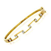 Bangle 0.45CT Diamond 9K Yellow Gold
