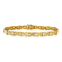 Everyday Bracelet 0.30CT Diamond 9K Yellow Gold