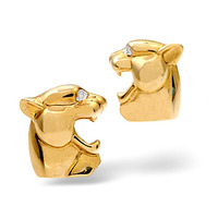 Cufflinks 0.02CT Diamond 9K Yellow Gold