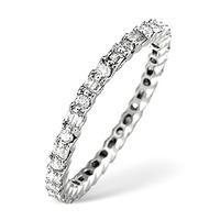 Platinum Diamond Eternity Ring 0.49ct