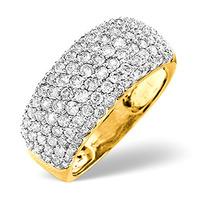 18K Yellow Gold Diamond Ring 1.35ct