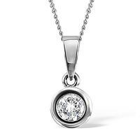 Emily Platinum Diamond Pendant 0.25CT H/SI