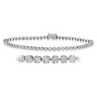 Chloe 18K White Gold Diamond Bracelet 2.00ct H/Si