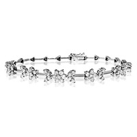18K WHITE GOLD DIAMOND BRACELET 2.20CT - J3343