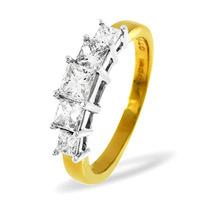 Lucy 18K Gold 5 Stone Princess Diamond Eternity Ring 0.25CT H/SI