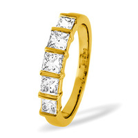 Lauren 18K Gold 5 Stone Diamond Eternity Ring 0.50CT G/VS