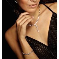 18K White Gold Diamond Necklace 4.73ct