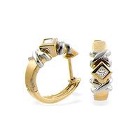 9K Gold Diamond Huggy Earrings