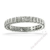 Eternity Ring  ELLIE PLATINUM DIAMOND 0.50CT H/SI