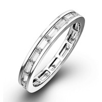 Eternity Ring  LILY PLATINUM DIAMOND 1.00CT G/VS