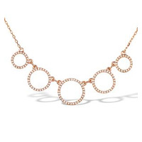 Vivara Collection 0.45ct Diamond and 9K Rose Gold Necklace D3405
