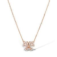 Vivara Collection 0.42ct diamond 9K Rose Gold Butterfly Necklace D3407