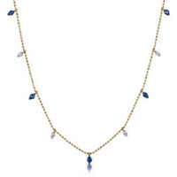 Sapphire and Diamond Necklace in 18K Gold - Vivara Collection