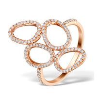 Vivara Collection 0.37ct Diamond and 9K Rose Gold Ring E5942