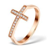 Vivara Collection 0.11ct Diamond and 9K Rose Gold Ring E5944