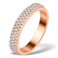 Vivara Collection 0.47ct Diamond 9K Rose Gold Half Eternity Ring E5945