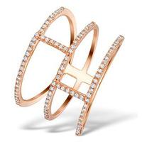 Vivara Collection 0.32ct Diamond and 9K Rose Gold Ring E5948