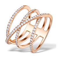 Vivara Collection 0.74ct Diamond and 9K Rose Gold Ring E5953