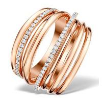 Vivara Collection 0.53ct Diamond and 9K Rose Gold Ring E5962