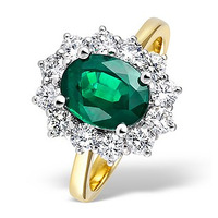 Emerald 1.95ct And Diamond 1.00ct 18K Gold Ring