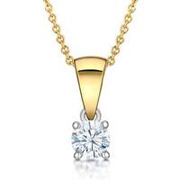 Chloe 18K Gold Diamond Pendant 0.25CT H/SI