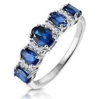 1.85ct Sapphire and Diamond Eternity Ring 18KW Gold Asteria Collection