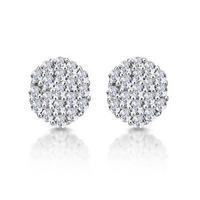 Cluster Earrings 0.25ct Diamond 9K Yellow Gold