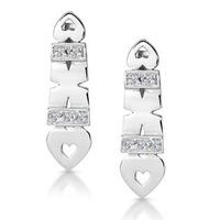 0.37ct Diamond Pave Heart Earrings in 9K White Gold