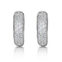 Huggy Earrings 0.33ct Diamond 9K Yellow Gold