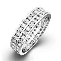 Eternity Ring  LUCY PLATINUM DIAMOND 1.00CT H/SI