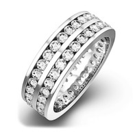 Eternity Ring  LUCY PLATINUM DIAMOND 2.00CT H/SI
