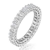 Francesca Diamond Eternity Ring Emerald Cut 6.76ct VVs Platinum O-W