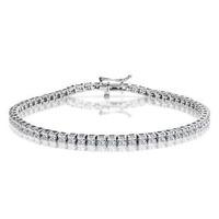 3ct Diamond Tennis Bracelet Claw Set in 9K White Gold