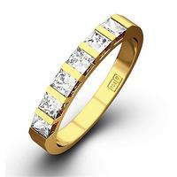 OLIVIA 18K Gold Diamond ETERNITY RING 0.50CT G/VS