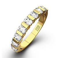 HANNAH 18K Gold Diamond ETERNITY RING 0.50CT H/SI