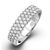 JASMINE PLATINUM Diamond ETERNITY RING 0.50CT H/SI