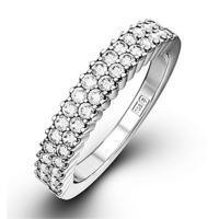 SOPHIE PLATINUM Diamond ETERNITY RING 0.50CT H/SI