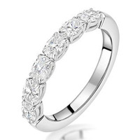 Helene Diamond Eternity Ring Oval Cut 0.87ct VVs Platinum Size H-I
