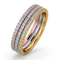 Eternity Ring  Diamond Erin 1.50ct H/Si in Three Tone 18K Gold