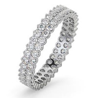 Eternity Ring  JASMINE PLATINUM DIAMOND 1.00CT H/SI