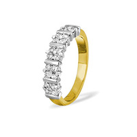 MIA 18K Gold Diamond ETERNITY RING 1.00CT H/SI