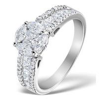 Engagement Ring Galileo 1.50ct Look SI Diamonds  18K White Gold N4489