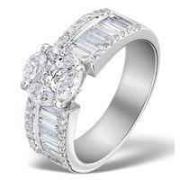 Engagement Ring Galileo 2.00ct Look H/SI Diamonds Platinum S3474
