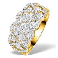 Lattice Diamond Ring 1.75CT H/Si in 18K Gold - N4531