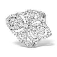 Vintage Diamond Ring 1.75CT H/Si in 18K White Gold - N4547