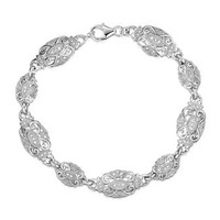 Diamond and Silver Vintage Bracelet - UD3255